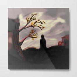 Dark Forest Scene Metal Print