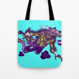 Sky High Wolf Tote Bag