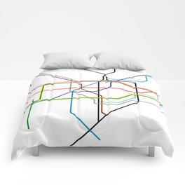 London tube Comforters