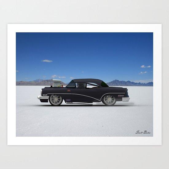 Bonneville Salt Flats Buick Art Print
