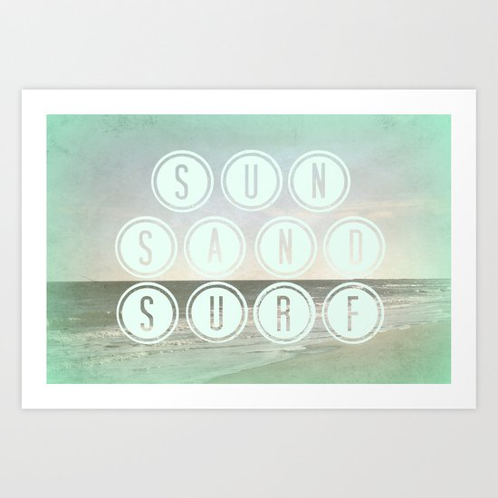 Sun, Sand, Surf  II Art Print