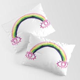 Boho Rainbow Love Eyes Pillow Sham