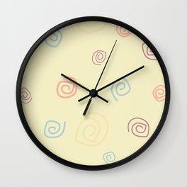 Kingdom of Spirals Wall Clock