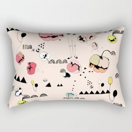 Poppies Print Rectangular Pillow