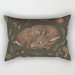 Foraging Fawn Rectangular Pillow