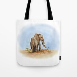 The Majestic African Elephant Tote Bag