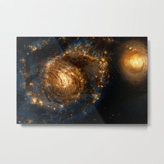 Starry Galaxy Night Metal Print