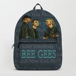 Bee Gee's Poster Backpack