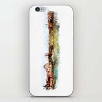 finland iPhone & iPod Skins featuring Helsinki city panorame, Finland by jbjart
