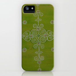 Green Mandala iPhone Case