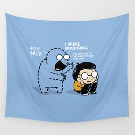Worst Imaginary Friend Ever Wall Tapestry