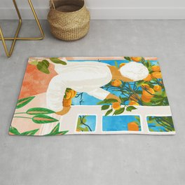 A Few Bad Oranges Is No Reason Not To Bring The Grove Home #painting Rug