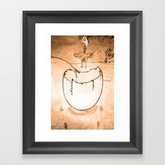 Flying egg Framed Art Print