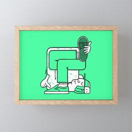 Breaker Framed Mini Art Print