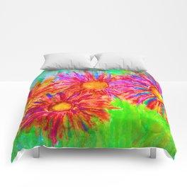 Bright Sketch Flowers Comforters