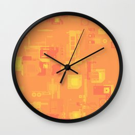 Random Shaped in Orange and Yellow Wall Clock