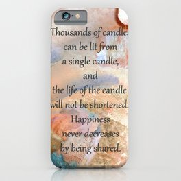Inspirational Art - Happiness Grows - Sharon Cummings iPhone Case