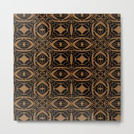 Black and Bronze 2666 Metal Print