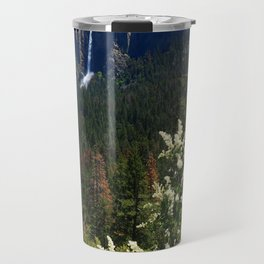 Bridal Veil Falls From Tunnel View Point - Yosemite Valley Travel Mug