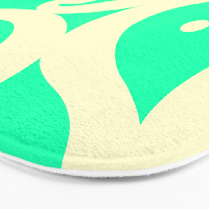 Mint Cream Jelly  Bath Mat