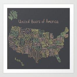 United Beers of America Art Print