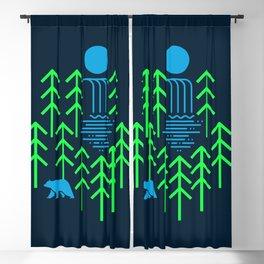 Nature Falls - animal t shirt, animal print t shirt, wildlife t shirt, bear shirt Blackout Curtain