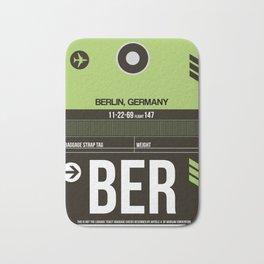BER Berlin Luggage Tag 2 Bath Mat