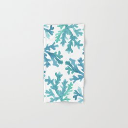 Blue Ombre Coral Hand & Bath Towel