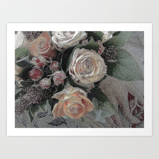 First Frost- Frozen Flowers  Art Print