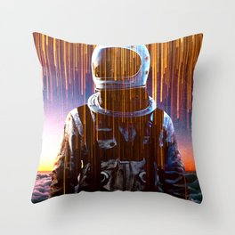 Astronaut in the Clouds Throw Pillow