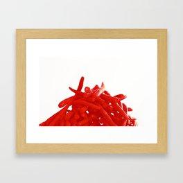 Red Green Beans Framed Art Print