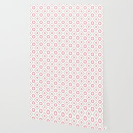 Pink pastel pattern of rhombuses and circles Wallpaper