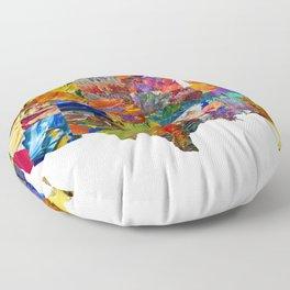 USA Map Floor Pillow