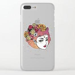 Floral Venus Clear iPhone Case