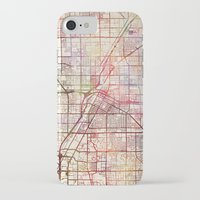 las vegas iPhone & iPod Cases featuring Las Vegas by MapMapMaps.Watercolors