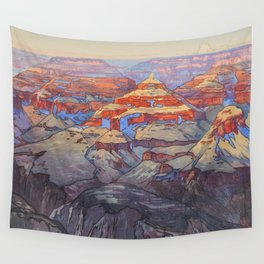 Grand Canyon Hiroshi Yoshida Vintage Japanese Woodblock Print Wall Tapestry