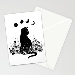 Night Garden Cat Stationery Cards