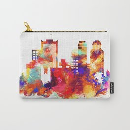 Phoenix Watercolor Skyline Carry-All Pouch
