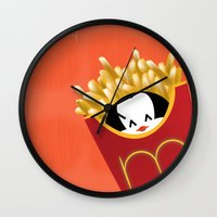 potato Wall Clocks featuring potato chips by Raimondo Tafuri