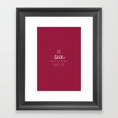 Seek Patience Framed Art Print