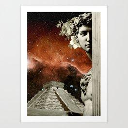 Michelangelo Surrealism Art Print