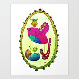 Bird Motherhood Art Print