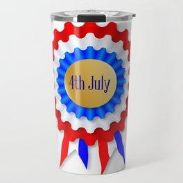 Independence Day Rosette Travel Mug