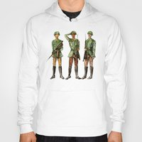 top gun Hoodies featuring Barely Soldiers by Torrinika