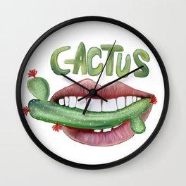 Love Cactus Wall Clock