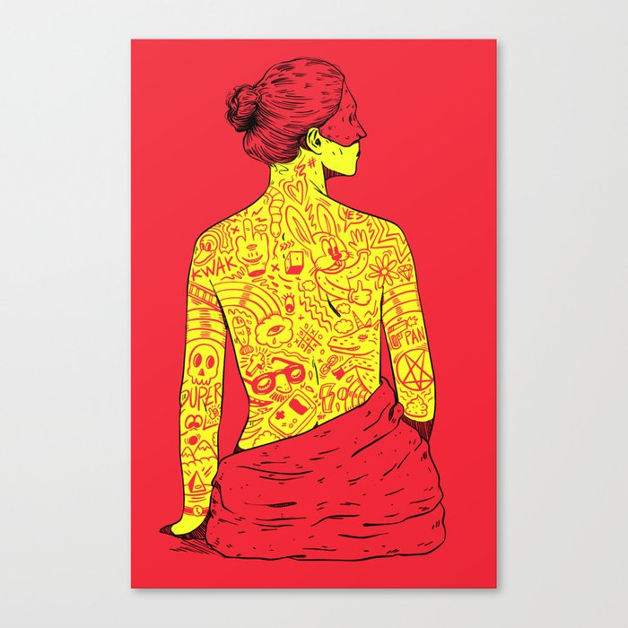 Dumb Tatoos Canvas Print