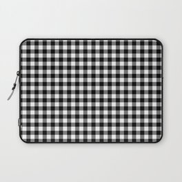 Gingham Black and White Pattern Laptop Sleeve