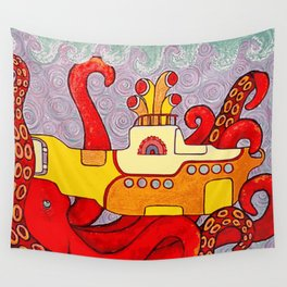Yellow Subliminal Wall Tapestry