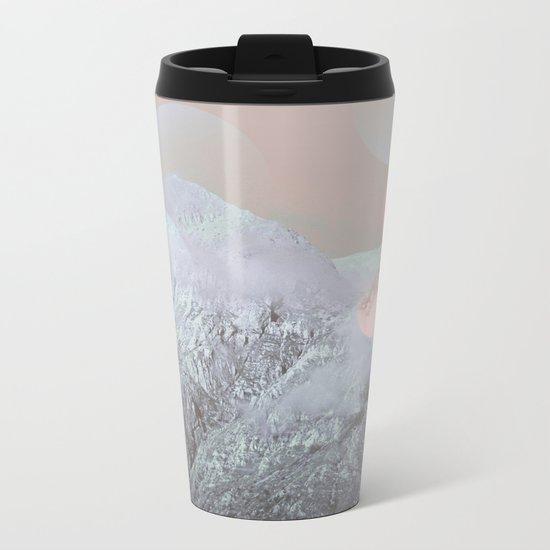 Bokeh Lights on Mountains Metal Travel Mug