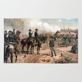The Siege Of Atlanta -- Civil War Rug